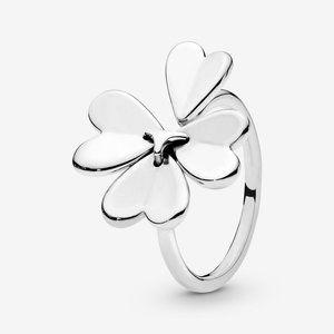 🔥PANDORA Lucky Four-Leaf Clover Open Ring